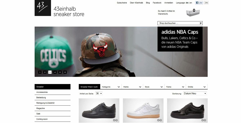 43einhalb sneaker store gutschein 20 2018 garantiert g ltig. Black Bedroom Furniture Sets. Home Design Ideas