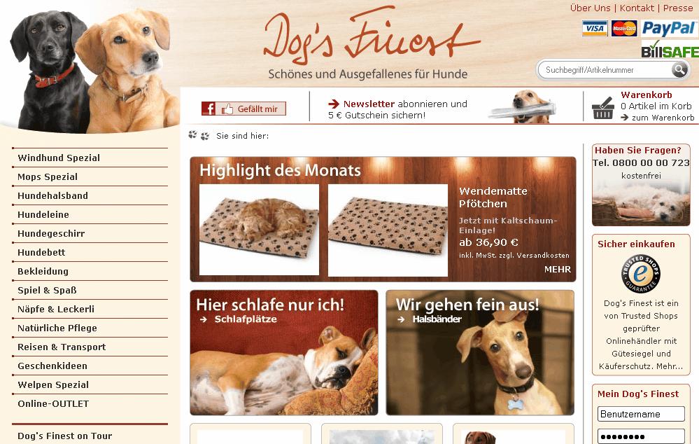 dogsfinest.de Gutschein