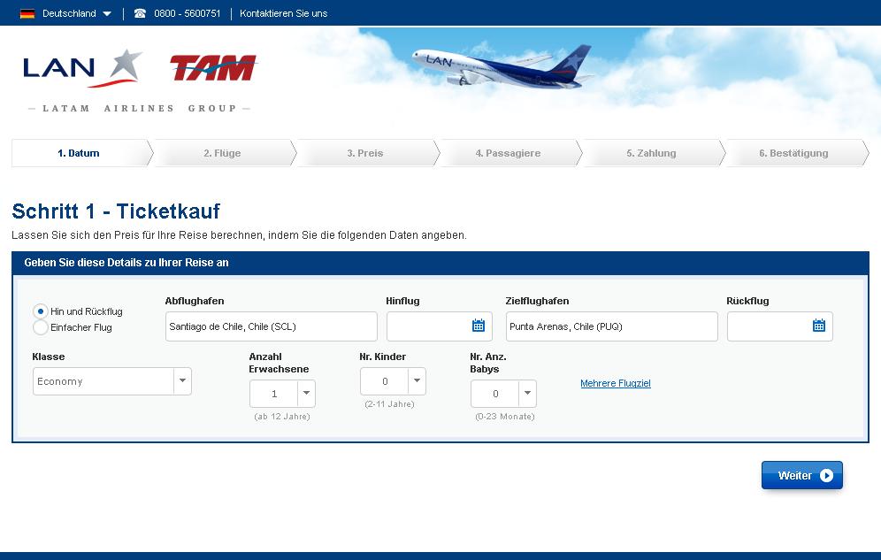 LATAM Airlines Gutschein