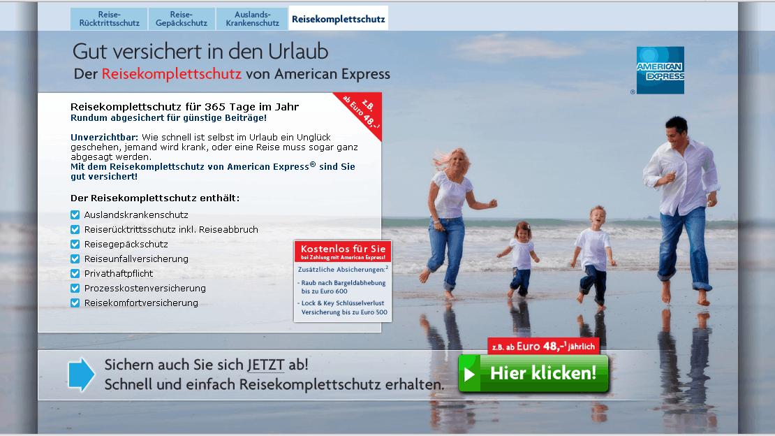AMEX Reiseversicherung Gutschein