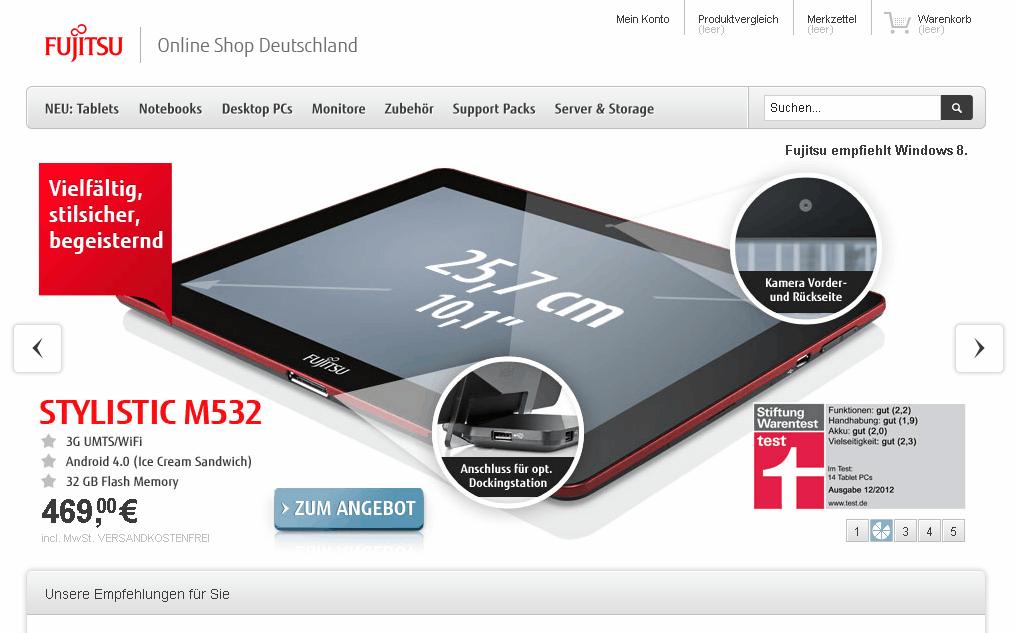 Fujitsu Gutschein