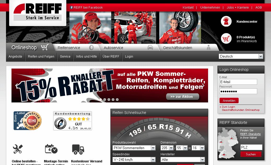 Reiff-Reifen Gutschein