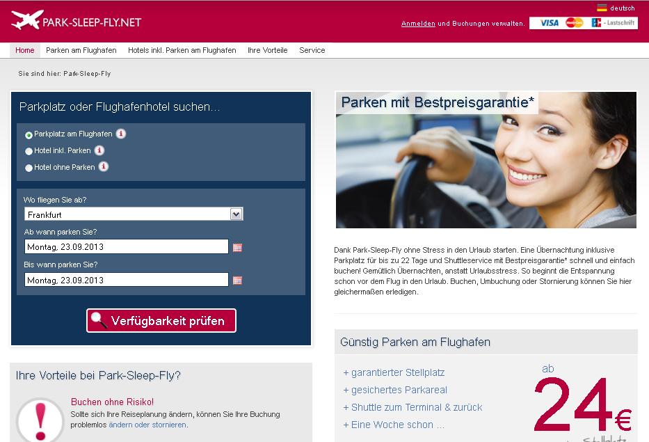 park-sleep-fly.net Gutschein
