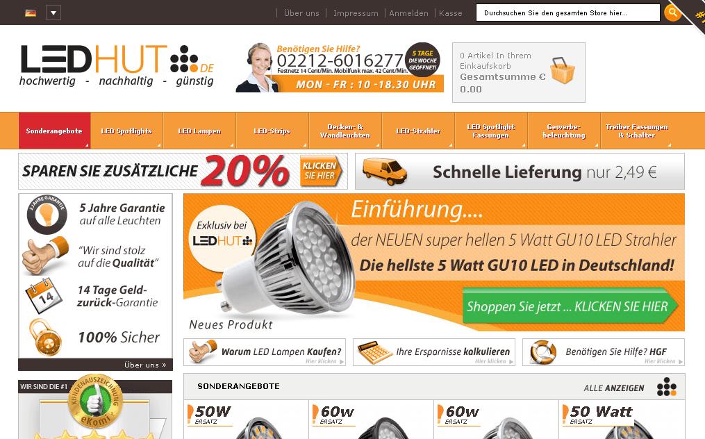 Ledhut Gutschein