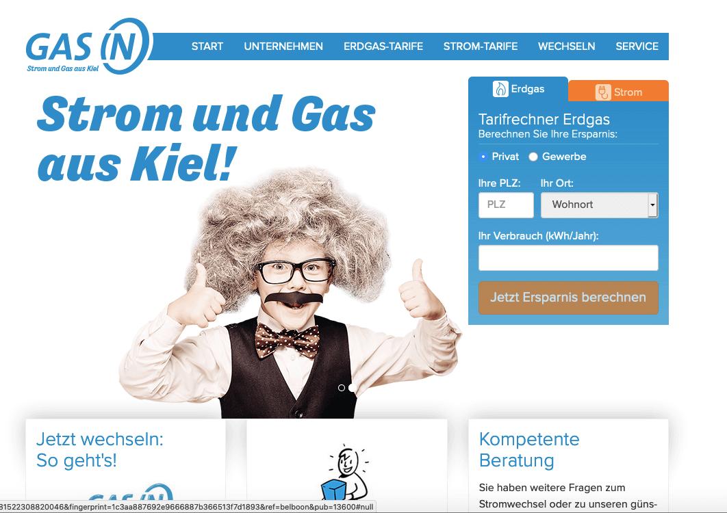 Gas In Gutschein