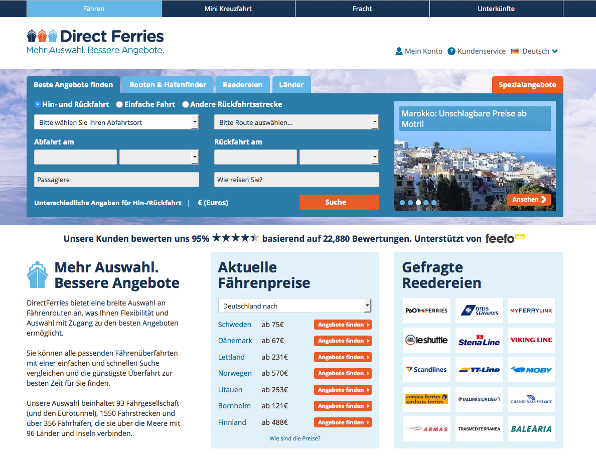 Direct Ferries Gutschein