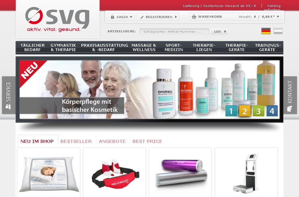 SVG Physiotherapie Shop Gutschein