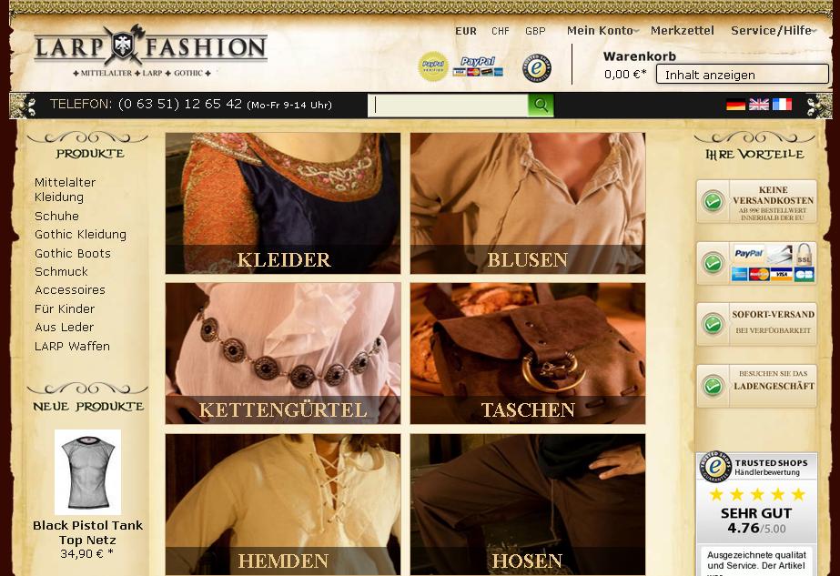 Larp Fashion Gutschein