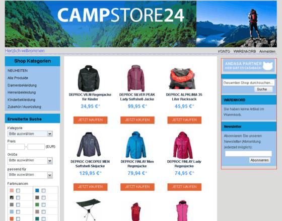 campstore Gutschein