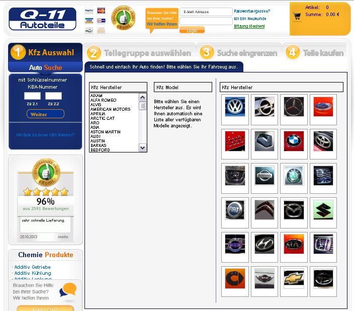 Q-11 Autoteile Gutschein