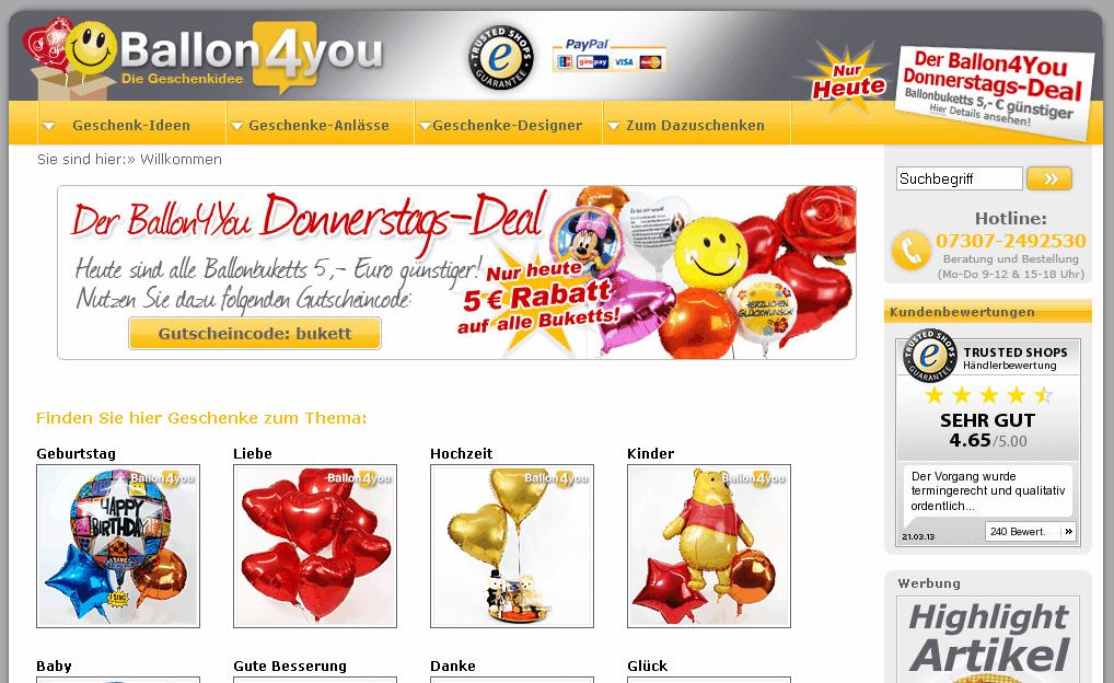 Ballon4you Gutschein