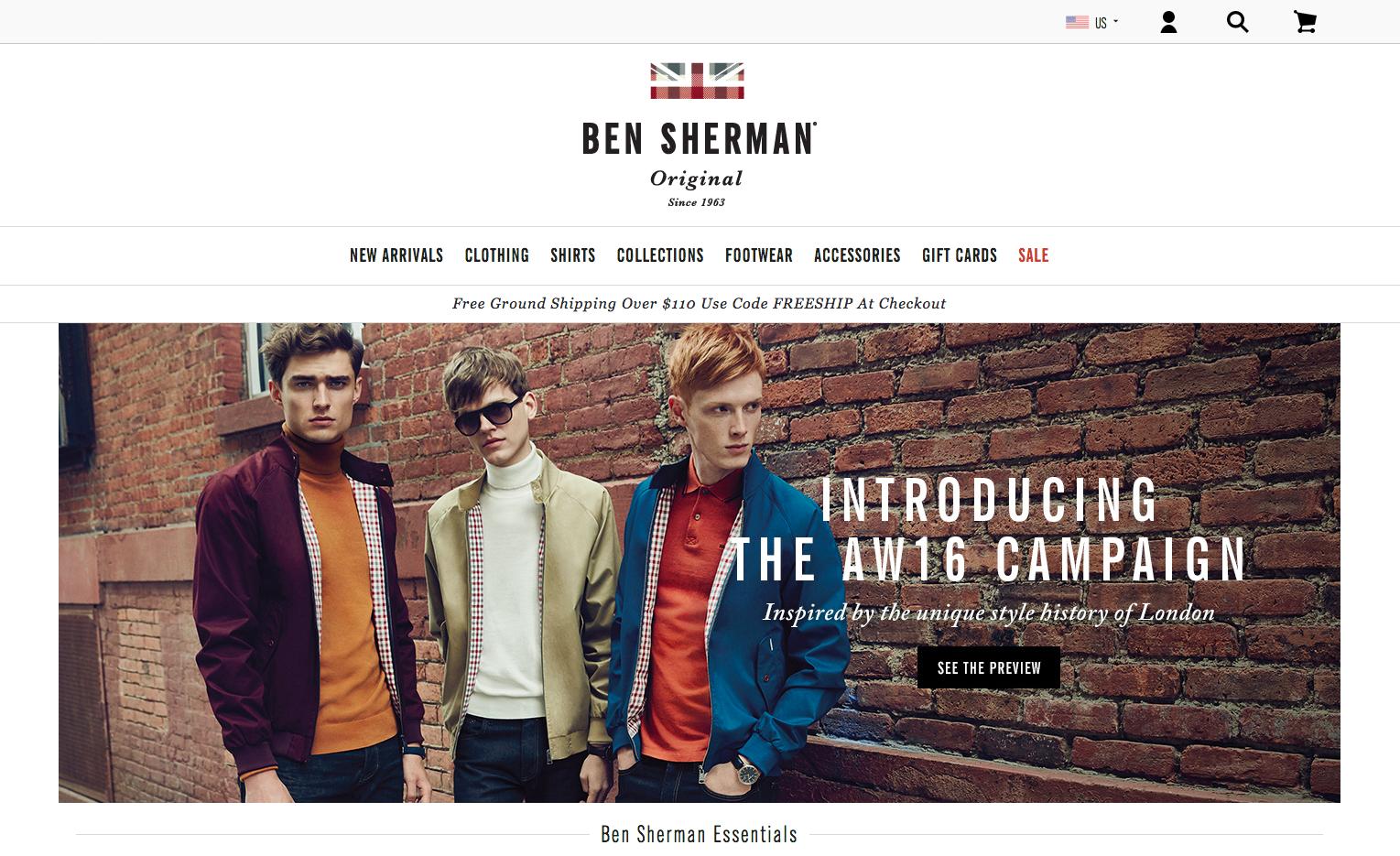 Ben Sherman Shop Gutschein