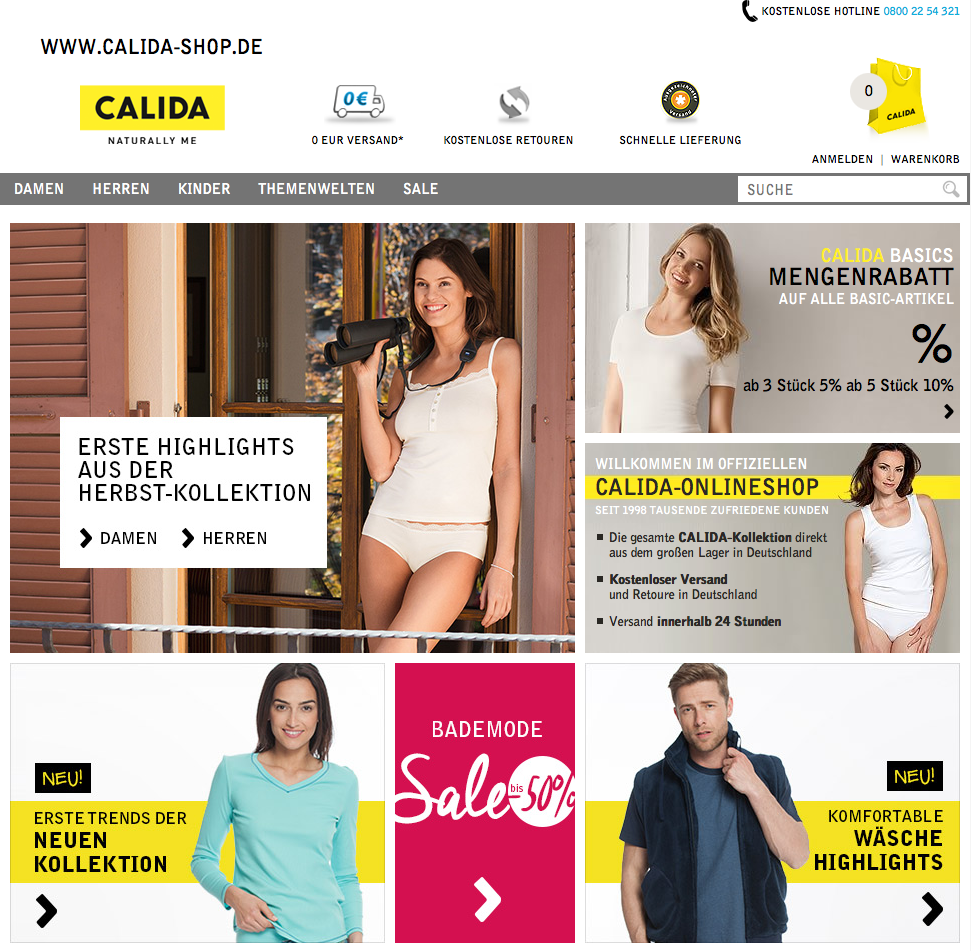 Calida-Shop.de Gutschein