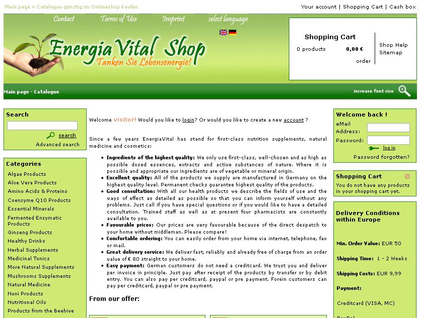 EnergiaVital-Shop Gutschein