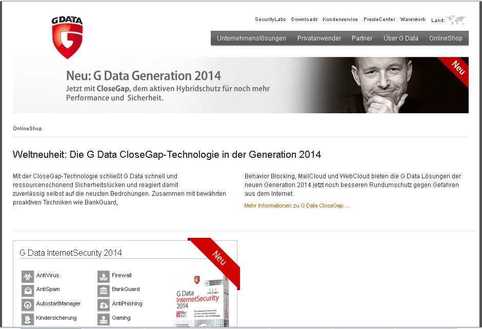 G Data Software AG Gutschein