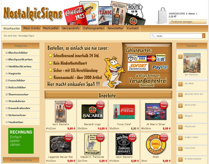 NostalgicSigns Gutschein