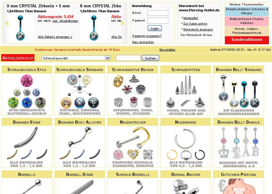 Piercing-Outlet.com Gutschein