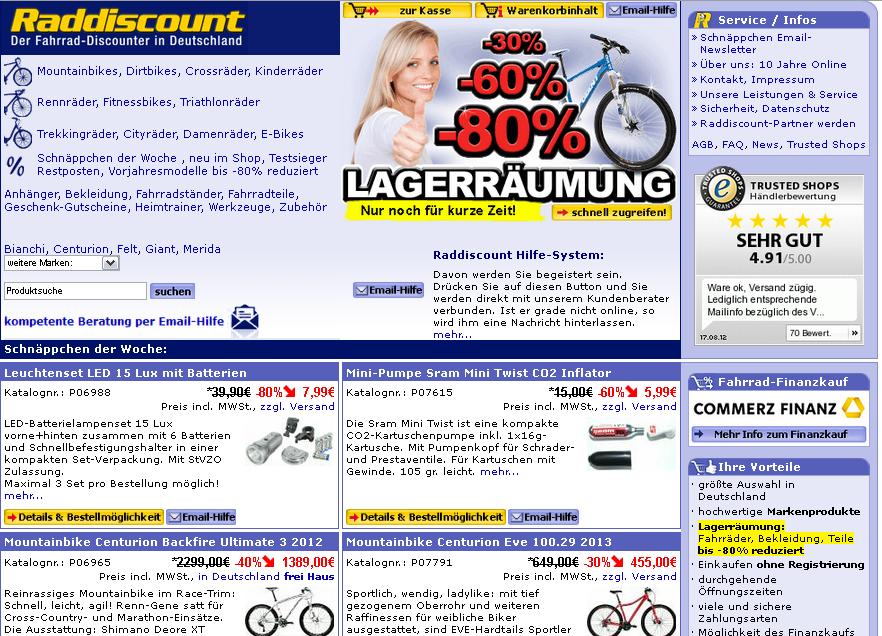 Raddiscount.de Gutschein