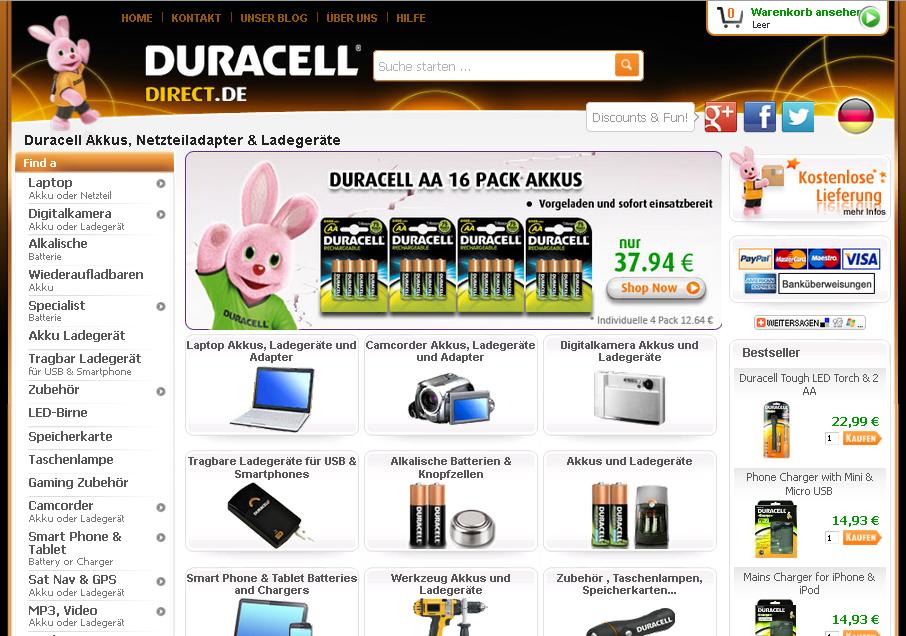 Duracell Direct Gutschein