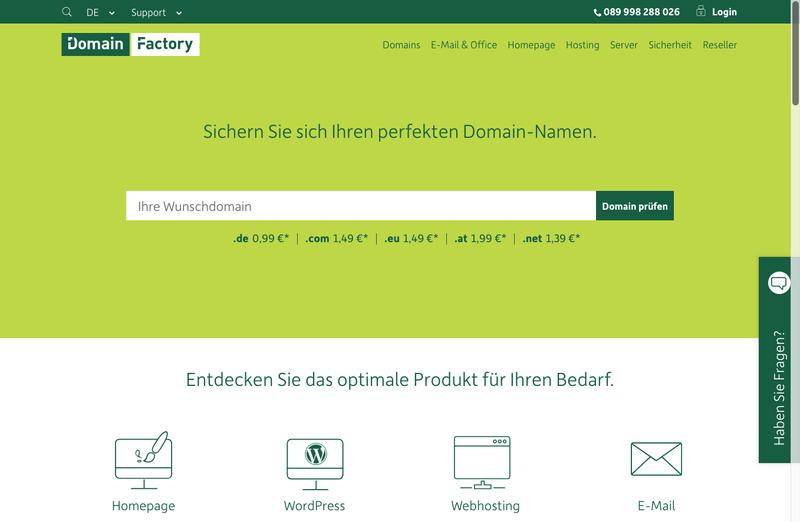 domainFACTORY Gutschein