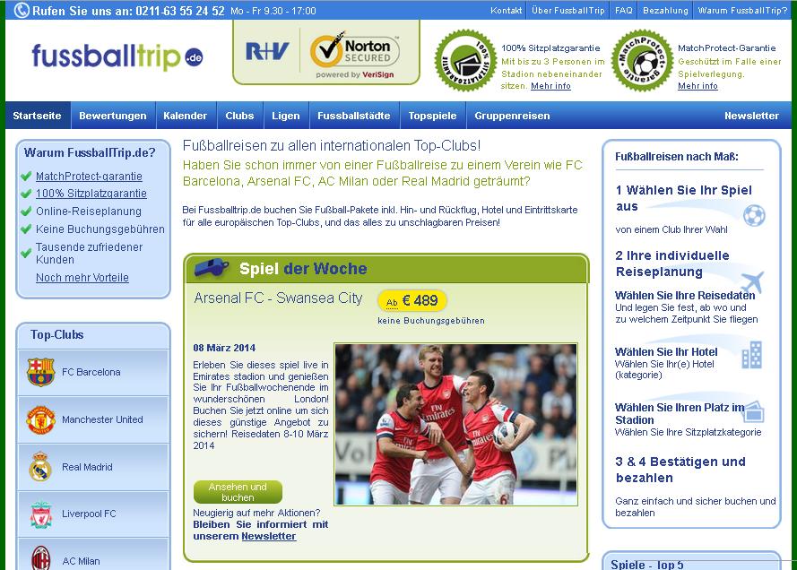 FussballTrip.de Gutschein