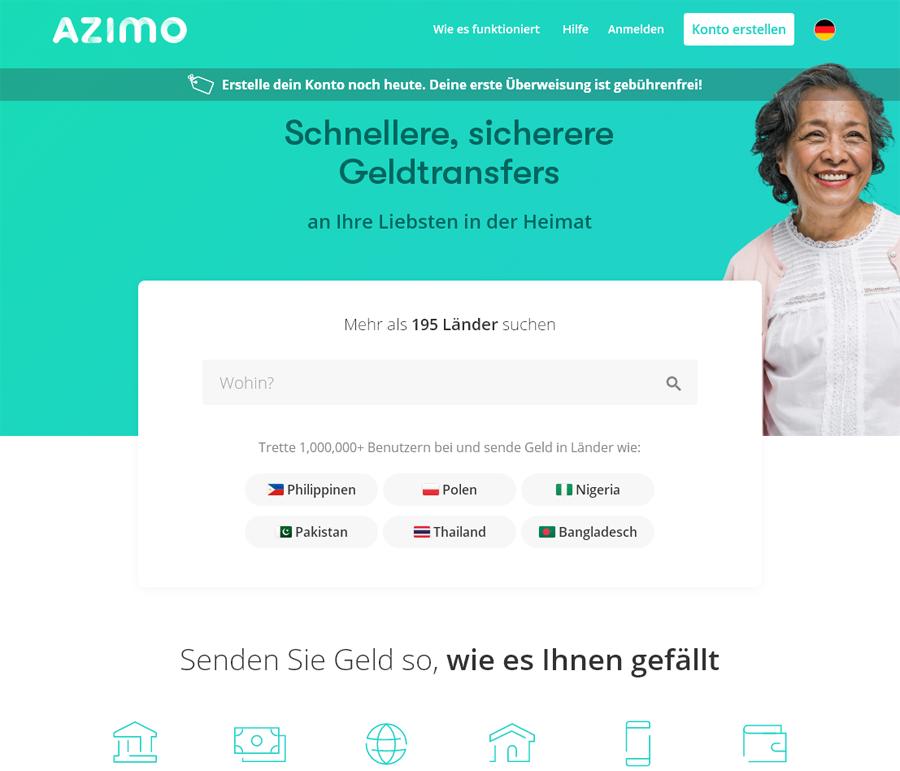 Azimo Gutschein