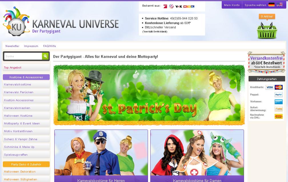 Karneval Universe Gutschein