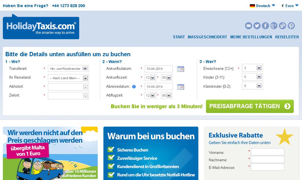 HolidayTaxis.com Gutschein