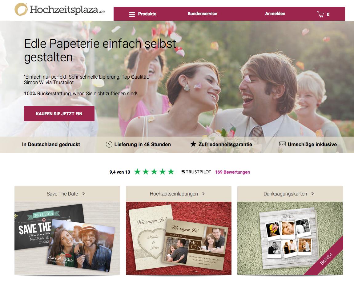 Hochzeitsplaza Kartenshop 10EUR Cashback Gutschein