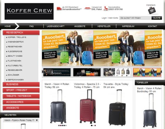 Koffer Crew Gutschein