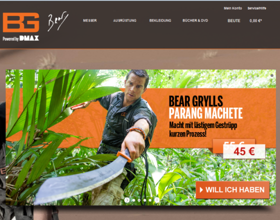 Bear Grylls Store Gutschein