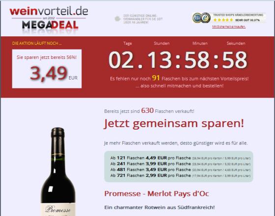 Weinvorteil Megadeal Gutschein