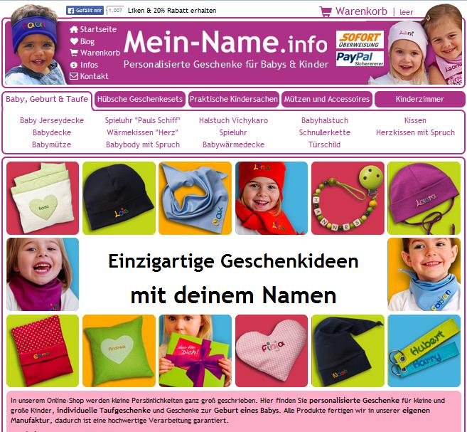 Mein-Name Gutschein