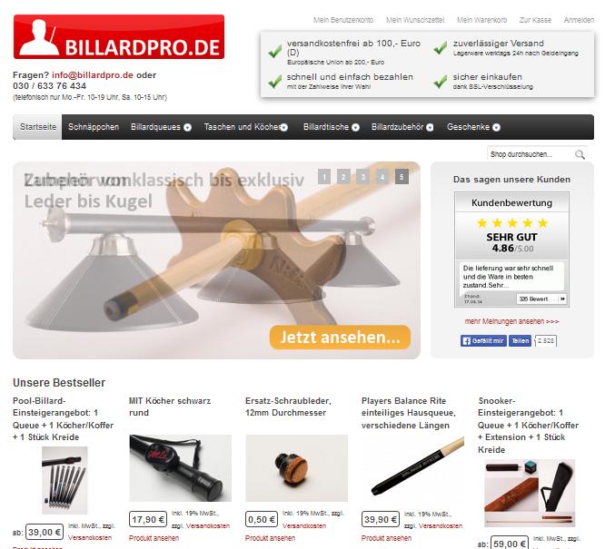 billardpro.de Gutschein