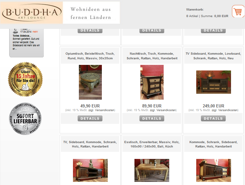 Buddha Art Lounge Gutschein