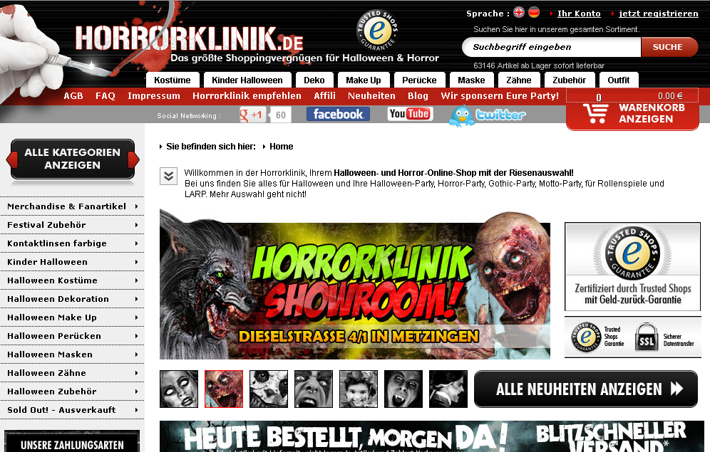 Horrorklinik Gutschein