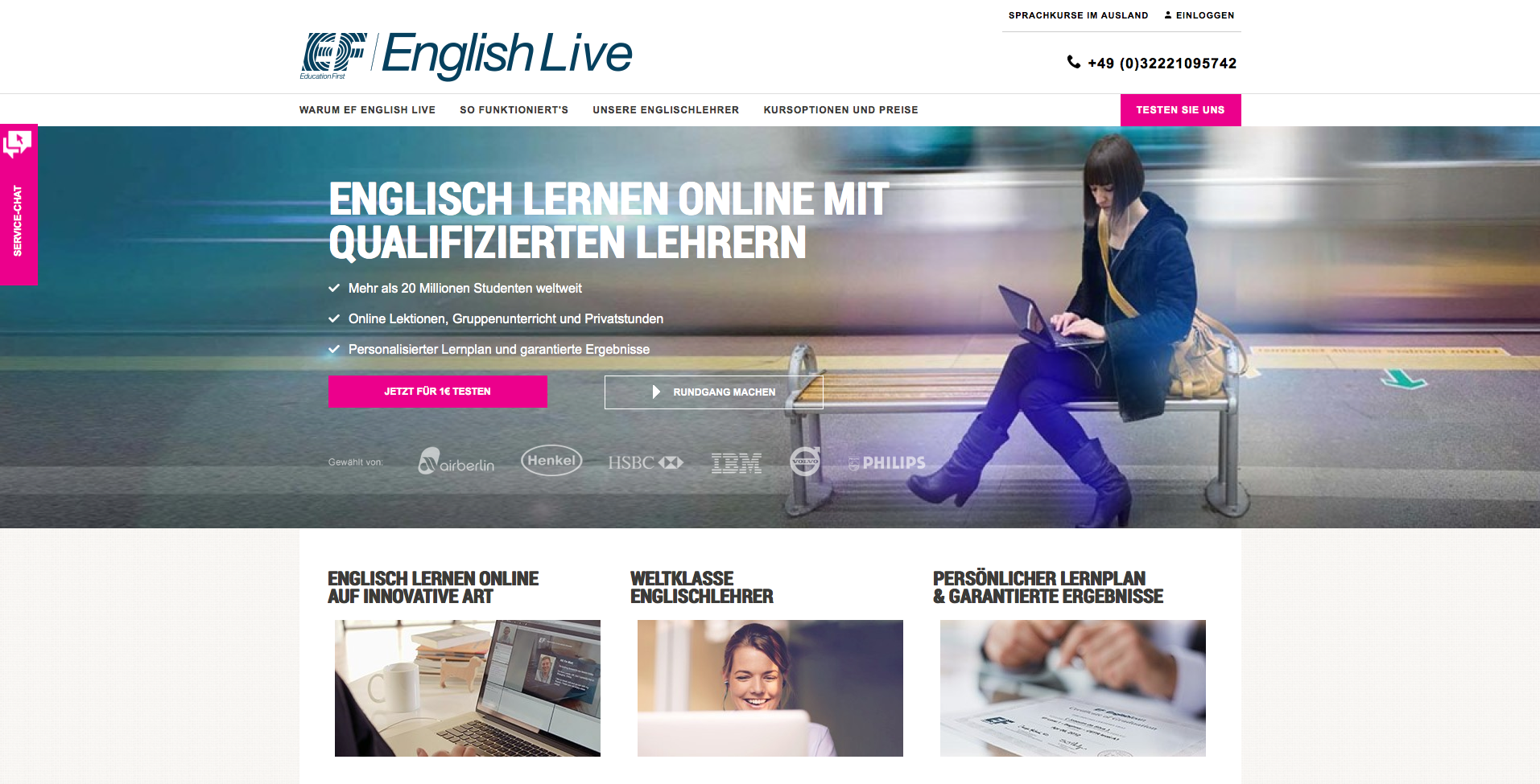 EF English Live Gutschein