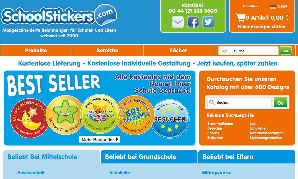School Stickers DE Gutschein