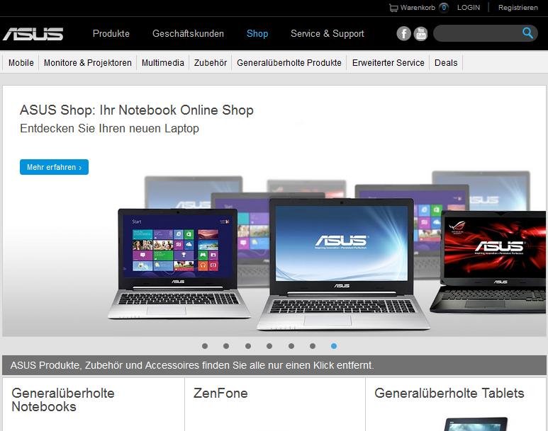 ASUS Shop Gutschein