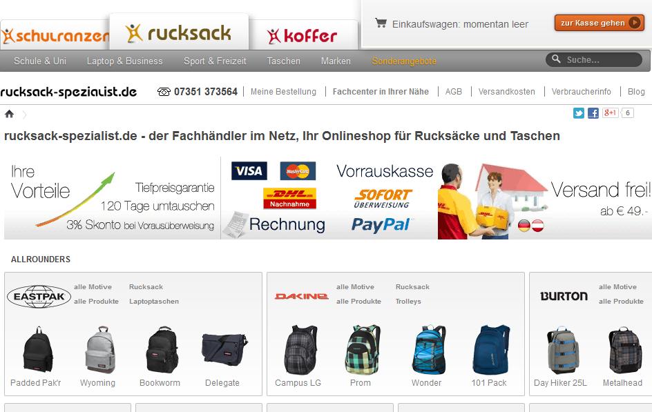 Rucksack-Spezialist.de Gutschein