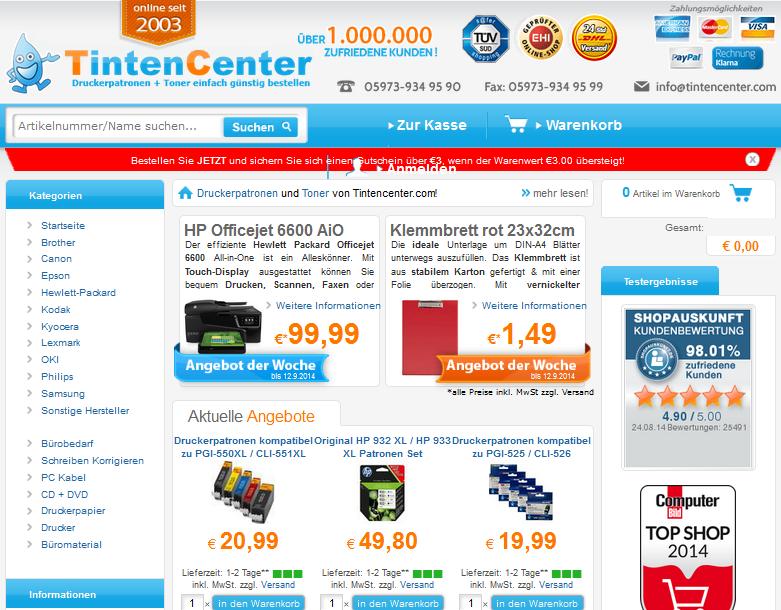 Tintencenter.com Gutschein