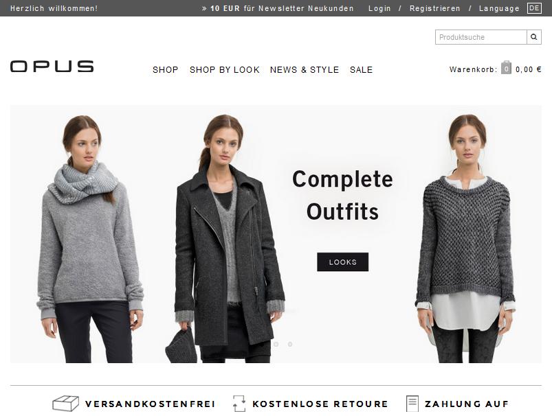 OPUS Fashion Gutschein