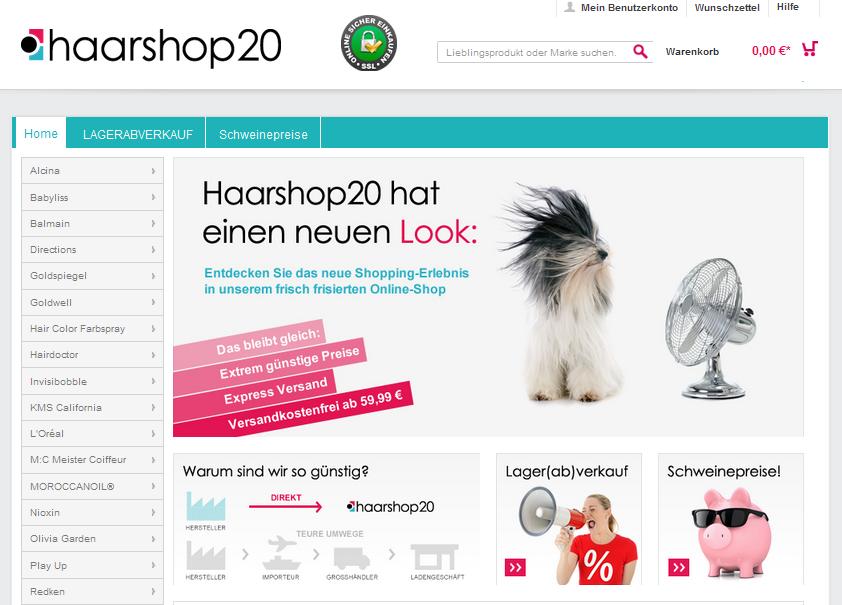 haarshop20.com Gutschein
