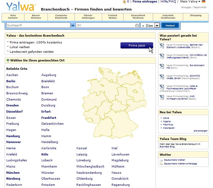 Yalwa Branchenbuch Gutschein