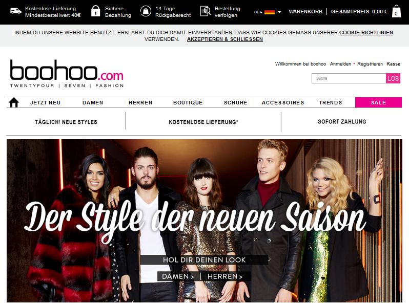boohoo.com Gutschein