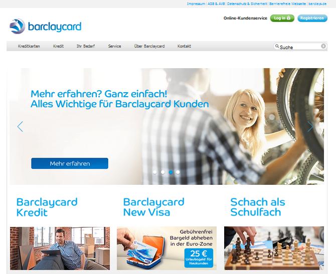 Barclaycard Kreditkarten Gutschein