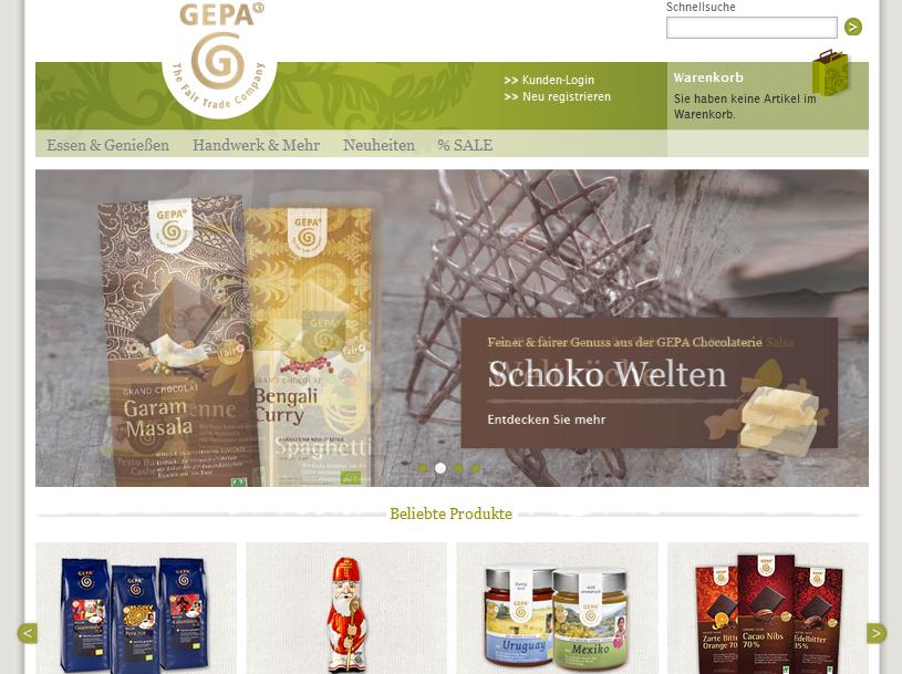 Gepa Onlineshop Gutschein