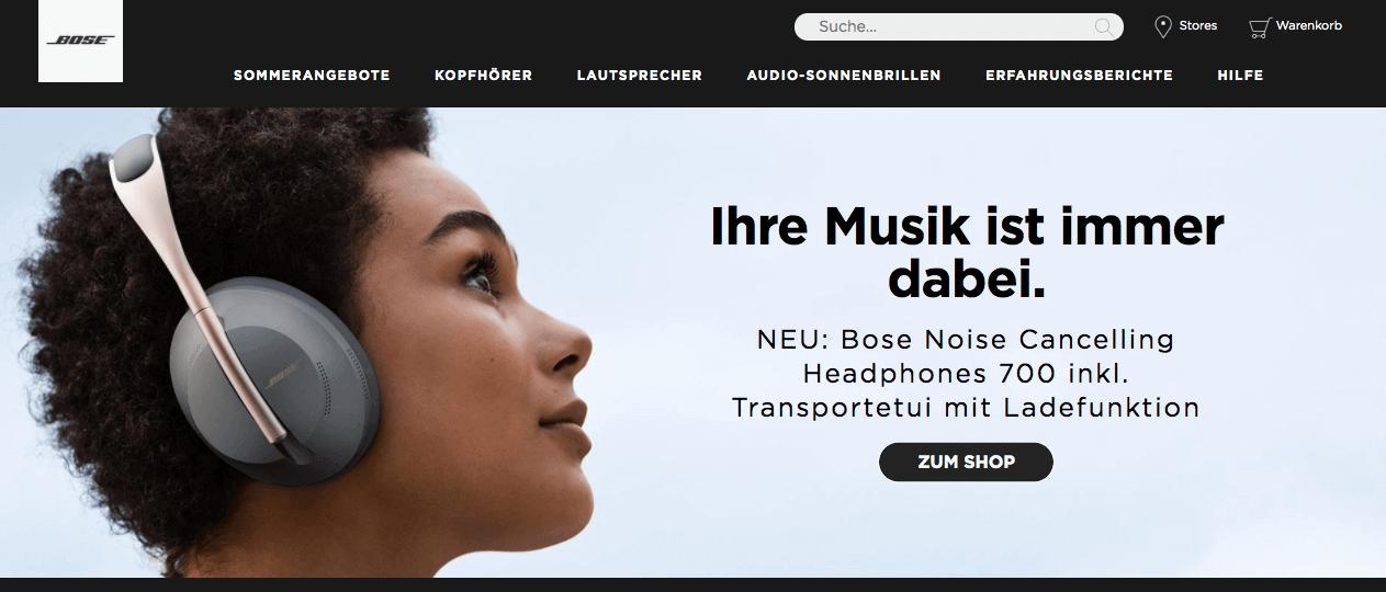 Bose Online Shop Gutschein