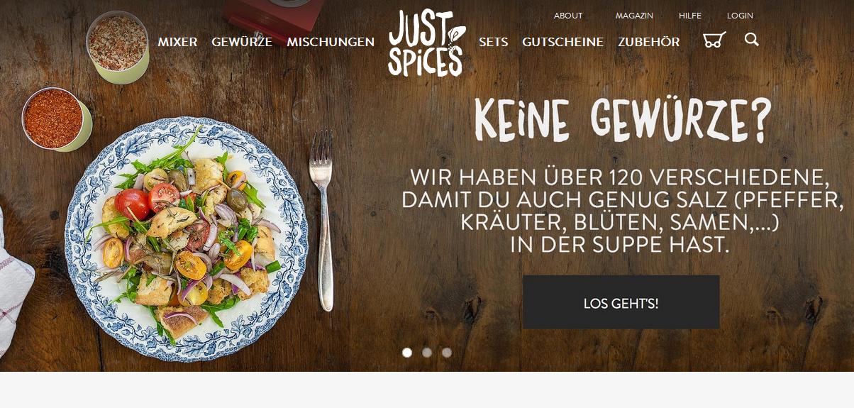 justspices.de Gutschein