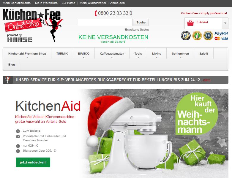 Küchen-Fee Online-Shop Gutschein